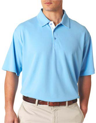 UltraClub Men's Platinum Performance Birdseye Polo with Temp Control-UL-8325