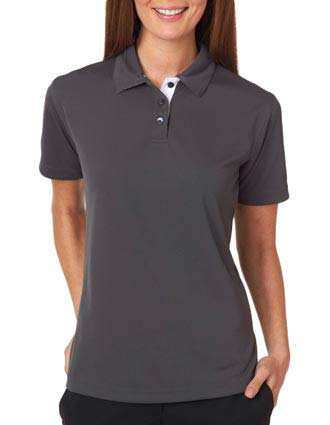 UltraClub Ladies' Platinum Performance Birdseye Polo w/TempControl