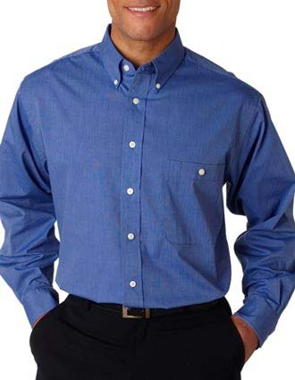 UltraClub Men's Wrinkle-Free End-on-End Shirt