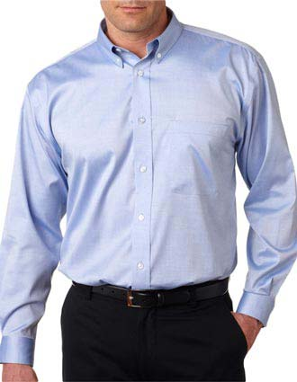 8380 UltraClub® Men's Non-Iron Pinpoint Shirt-UL-8380