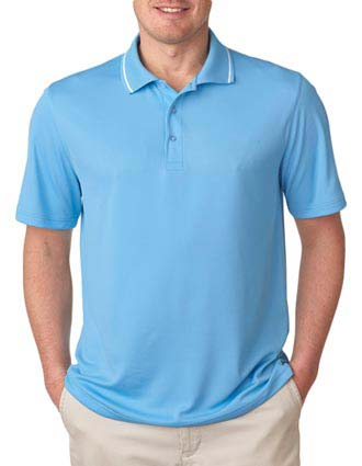 UltraClub Men's Polo with Tipped Collar-UL-8394
