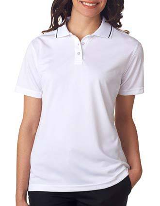 8394L UltraClub Ladies' Polo with Tipped Collar-UL-8394L