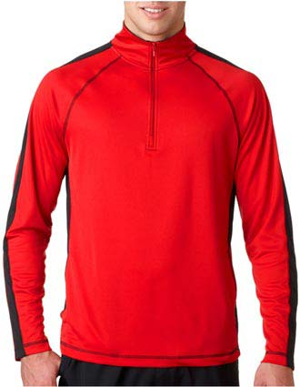8398 UltraClub Adult Cool & Dry Sport 1/4-Zip Pullover