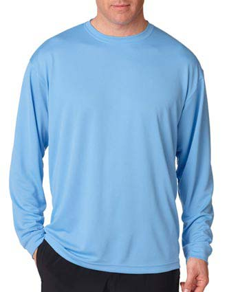 8401 UltraClub Adult Cool & Dry Mesh Sport Long-Sleeve Tee-UL-8401