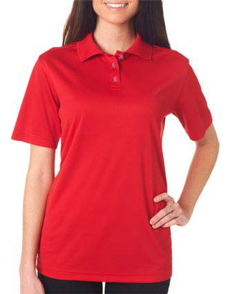 UltraClub Ladies' Cool & Dry Mesh Sport Polo-UL-8404