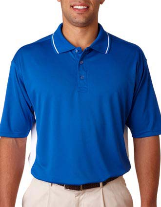 8406 UltraClub Adult Cool & Dry Mesh Sport Two-Tone Polo-UL-8406