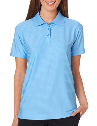UltraClub Ladies' Cool & Dry Elite Tonal Stripe Performance Polo-UL-8413L