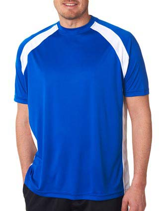 UltraClub® Adult Cool & Dry Sport Two-Tone Performance Tee-UL-8421