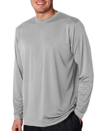 UltraClub Adult Cool & Dry Sport Long-Sleeve Performance Tee-UL-8422