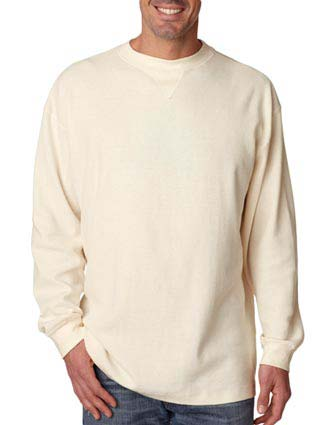 UltraClub® Adult Mini Thermal Cotton Crew Neck-UL-8455