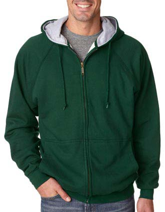 8463 UltraClub® Adult Rugged Wear Thermal-Lined Full-Zip Jacket-UL-8463
