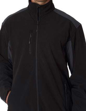 UltraClub® Men's Two-Tone Soft Shell Jacket-UL-8479