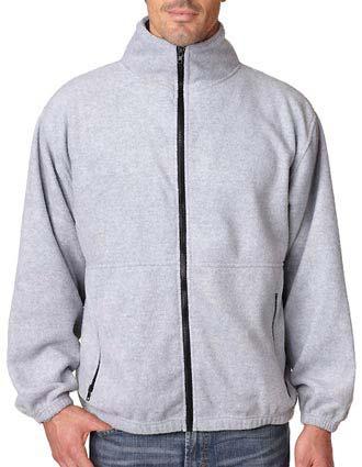 UltraClub Men's Iceberg Fleece Full-Zip Jacket-UL-8485