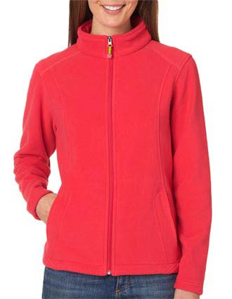 8498 UltraClub® Ladies' Micro Fleece Full-Zip Jacket-UL-8498