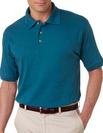 UltraClub Men's Egyptian Interlock Polo-UL-8505