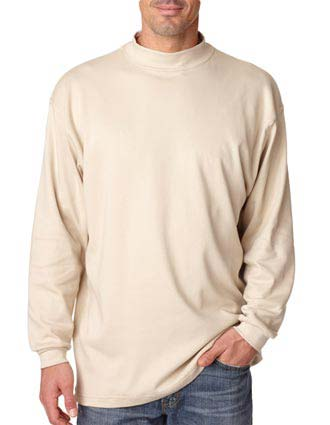 8510 UltraClub Adult Egyptian Interlock Long-Sleeve Mock Turtleneck-UL-8510