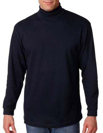 UltraClub Adult Egyptian Interlock Long-Sleeve Turtleneck-UL-8516