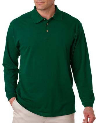 8532 UltraClub Adult Long-Sleeve Classic Piqué Polo-UL-8532