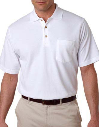 8534 UltraClub® Adult Classic Piqué Polo with Pocket-UL-8534