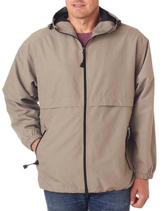 UltraClub Adult Microfiber Hooded Zip-Front Jacket