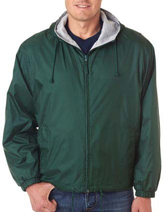 8915 UltraClub Adult Fleece-Lined Hooded Jacket-UL-8915