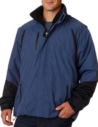 8939 UltraClub® Adult Three-in-One Color Block Systems Jacket-UL-8939