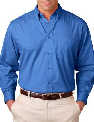 8975T UltraClub® Men's Tall Whisper Twill Shirt-UL-8975T