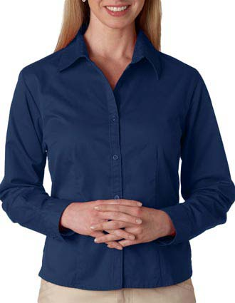 8976 UltraClub® Ladies' Whisper Twill Shirt