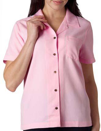 8981 UltraClub Ladies' Cabana Breeze Camp Shirt-UL-8981