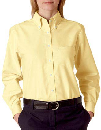 8990 UltraClub Ladies' Classic Wrinkle-Free Long-Sleeve Oxford-UL-8990