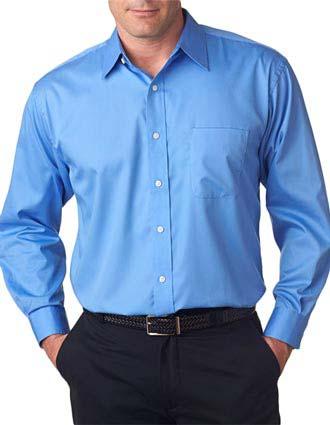 UltraClub® Men's Whisper Elite Twill Shirt-UL-8991