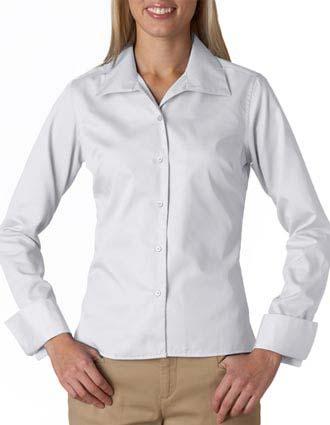 8992 UltraClub® Ladies' Whisper Elite Twill Shirt-UL-8992