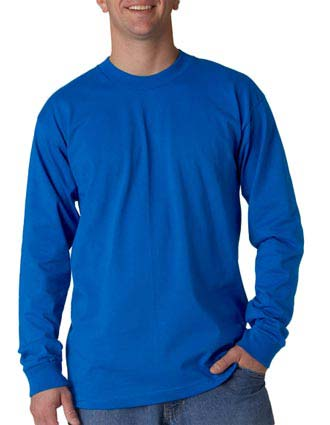 Union Made - Bayside Adult Union Made Long-Sleeve Cotton Tee-UN-2955