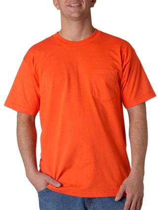 Union Made - Bayside Adult Union Made Cotton Pocket Tee-UN-3015