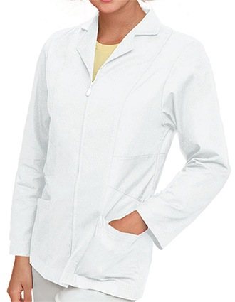 Urbane Womens Two Pocket 29 Inches Short Medical Lab Coat-UR-3109