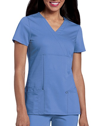Urbane Ultimate Womens Ashley Mock Wrap Nursing Scrub Top-UR-9038
