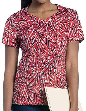 Urbane Women's SUNKISSED HAZE Print Diamond Neckline Top