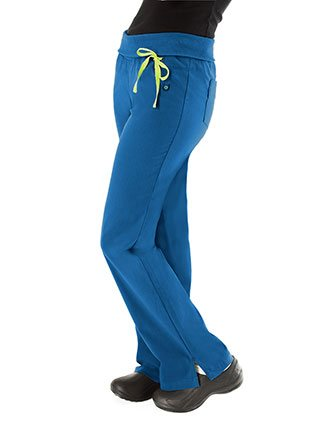 Urbane Sport Womens Two Pocket Knit Waistband Scrub Pants