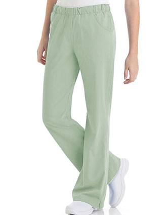 Urbane Women's Comfort Elastic Waist Medical Scrub Pants-UR-9306