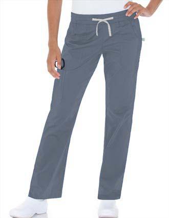 Urbane Women Sport Zip Cargo Pocket Medical Scrub Pants-UR-9308