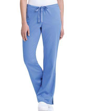 Urbane Women's  Katie Drawstring Solid Nursing Scrub Pants-UR-9310