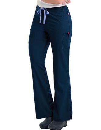 Urbane Women's Emily Cargo Solid Nursing Scrub Pants-UR-9311