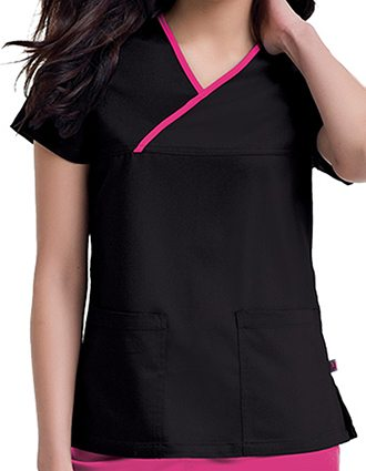 Urbane Women's Mandi Crossover Solid Nursing Scrub Top-UR-9407