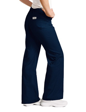 Urbane Women Low Rise Boot Cut Drawstring Medical Scrub Pants-UR-9502