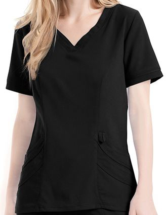 Urbane Women's Crossover Sweetheart Neckline Scrub Top