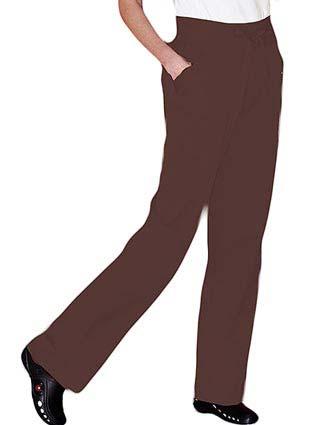 Urbane Womens Three Pocket Knit Waist Drawstring Scrub Pants-UR-9852