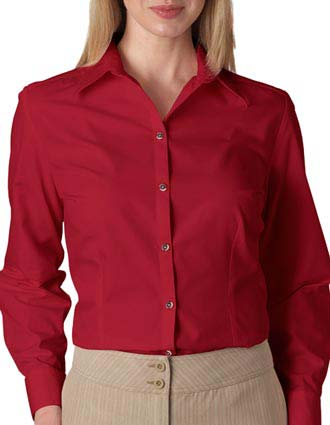 V0114 Van Heusen Ladies' Long-Sleeve Silky Poplin-VA-V0114