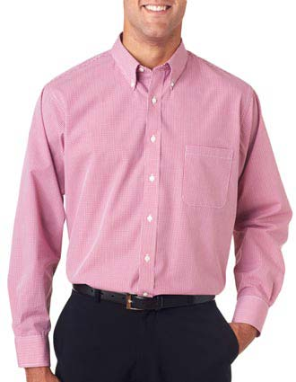 Van Heusen Men's Long Sleeve Yard-Dyed Gingham Check-VA-V0225