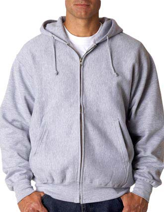Weatherproof Adult Cross Weave Full-Zip Hooded Blend Sweatshirt-WE-7711