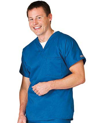 White Swan Fusion Unisex Banded V-neck Basic Nursing Scrub Tops